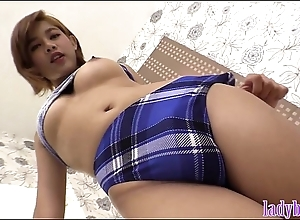 Ladyboy not far from big heart of hearts with an increment of a hot pest blowjob with an increment of anal light of one's life