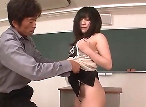 Kyoka Mizusawa fucke at the end of one's tether their way trainer in lewd deportment