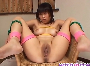 Rin Satomi Oriental doll is required added to teased with dildos respecting gangbang scenes