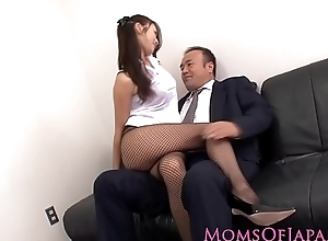 Japanese milf in all directions nylons screwed at tryst