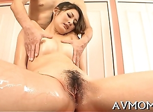 Milf oriental slut coupled with 3 dongs