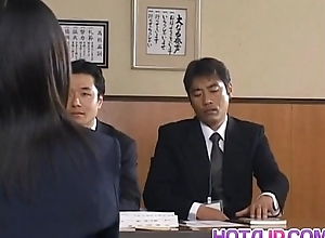 Yui Aina gets sucked penises