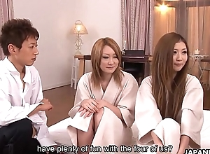 Oriental sluts getting drilled in a sexy foursome