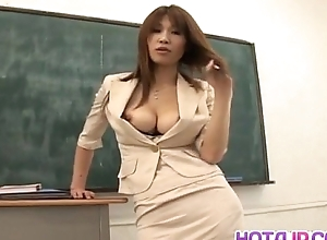 Ai Kurosawa caresses her titties with an increment of rubs bawdy cleft prepay fellow