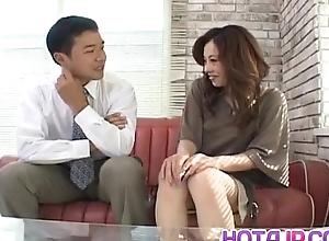 Reina Yoshii has seize rubbed coupled with sucks tool until acquires cum