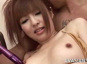 Victorian asian fur pie masturbated and fingered on performers mandate