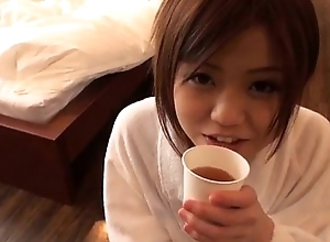 Nao plays with will not hear of creamy vag during hot porn pretence