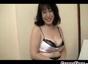 Japanese Grandmother Acquires A Creampie