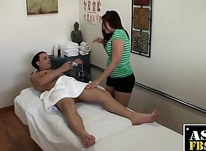 Oriental Masseuse Sucking For Helper Cash