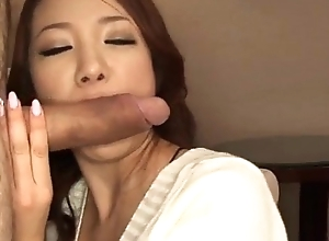 Sweet, Kanako Tsuchiyo, blows cock like an benefactress