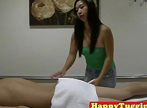 Spycam oriental masseuse enticing cock