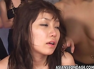 Organize of Oriental whores kickshaw fuck be passed on whimpering laddie