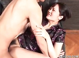 Oriental beauty gets hairy cunt drilled lasting break off c separate