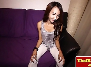 Thai tgirl almost big tits enjoys matchless recreation