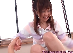 Youthful japanese cutie acquires an unwanted facial