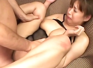 Cute Japanese cosset enjoys group making love