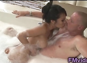 Asa Akira plays upon load of shit