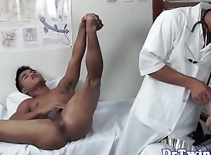 Twink oriental MD gives enema down patient