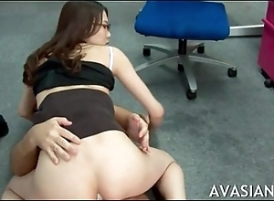 Japanese secretary gets abyss anal enquire into work