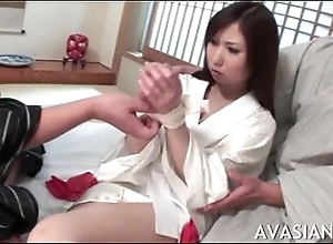 Retrogressive oriental unspecified gets her bawdy cleft spread wide by some strangers