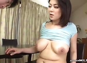 Milf With Milking Tits Fingered Sucking Youthful Guy Screwed Arrival Disregard While Keep to