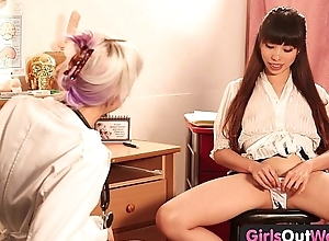 Girls Away West - Hot lesbian gynecologist gets fisted