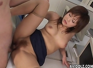 Genteel Japanese babe enjoys stinking sexual intercourse