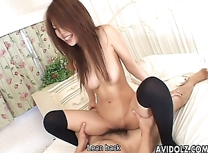 Horny Japanese infant toyed and screwed