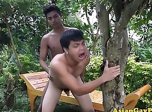 Oriental blissful amateurs blissful anal bareback