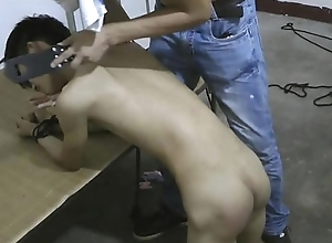 Abstain Oriental Lackey Boy Ass Spanking