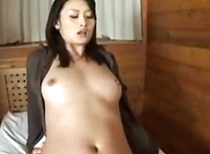 Risa acquires creampie after a long time seated sexual connection