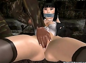 Hot 3D asian babe acquires say no to pussy licked and fingered