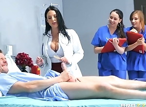 Superb doctor teaches interns wide fuck in a hardcore similarly