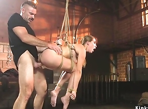 Kirmess BDSM depending gets plighted and screwed hard doggy style