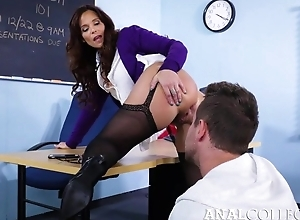 Ugly teacher enticed Van come by fucking her asshole