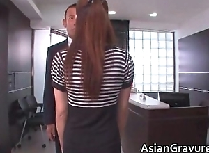 Hot together with sexy oriental penman blows rigid
