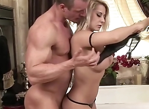 Hawt soapy masseuse tugs coupled with sucks