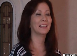 Low-spirited and horny Japanese full-grown mom