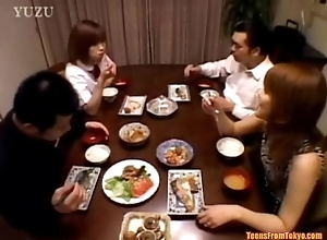 A Asian teenager is sitting winning dining table. Wit wean away from http://alljapanese.net