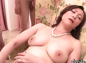 Hawt asian toying will not hear of cunt plus receives cumshot
