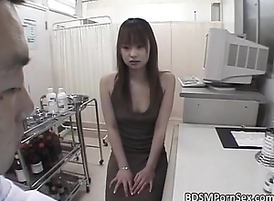 Lovable Asian floosie enjoys in painful
