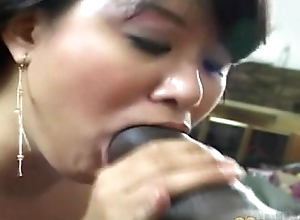 Asian Mama Gets Black men's huge cocks