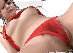 Breasty Rui Natsukawa masturbated unconfirmed she squirts