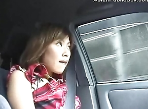 Asian Yield b set forth Car/Bathroom Blowjob curvaceous