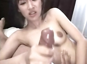 Cute oriental blowjob