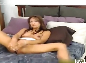 Asian Likes forth Penetrate their way Cunt with Grand Dildos