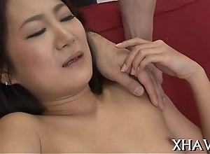 Asian babe unladylike acquires improbable
