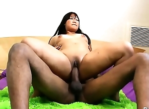 Asian big skirt banged hard